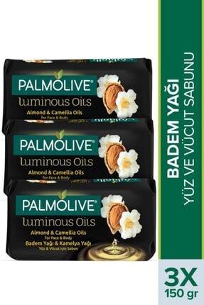 Palmolive Luminous Oils Badem Yağı & Kamelya Yağı Yüz Ve Vücut Sabunu 3 X 150 gr 0