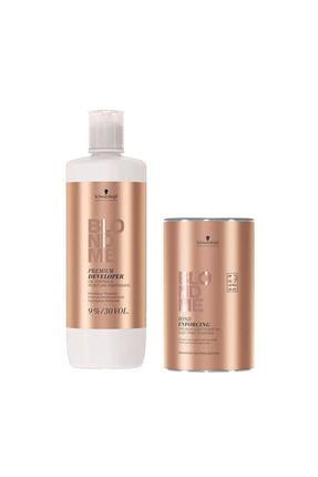 BLONDME Blondme Premium Lift+9 Açıcı 450 G + Oksidan %9 30 Volume 1000 Ml 0