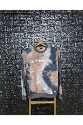 Saw Unisex Füme 'no Is Beyond Me' Baskılı Sweatshirt 0