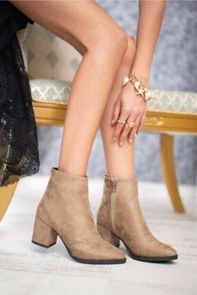 AYKMAR Kadın Bej Asper Topuklu Bot 1