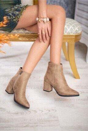 AYKMAR Kadın Bej Asper Topuklu Bot 2