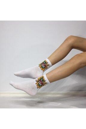 Adel Unisex Penye POP Desenli Kolej Çorabı 0