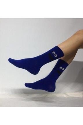 Adel Kokulu Unisex Kurabiye Canavarı Desenli Kolej Çorabı 0
