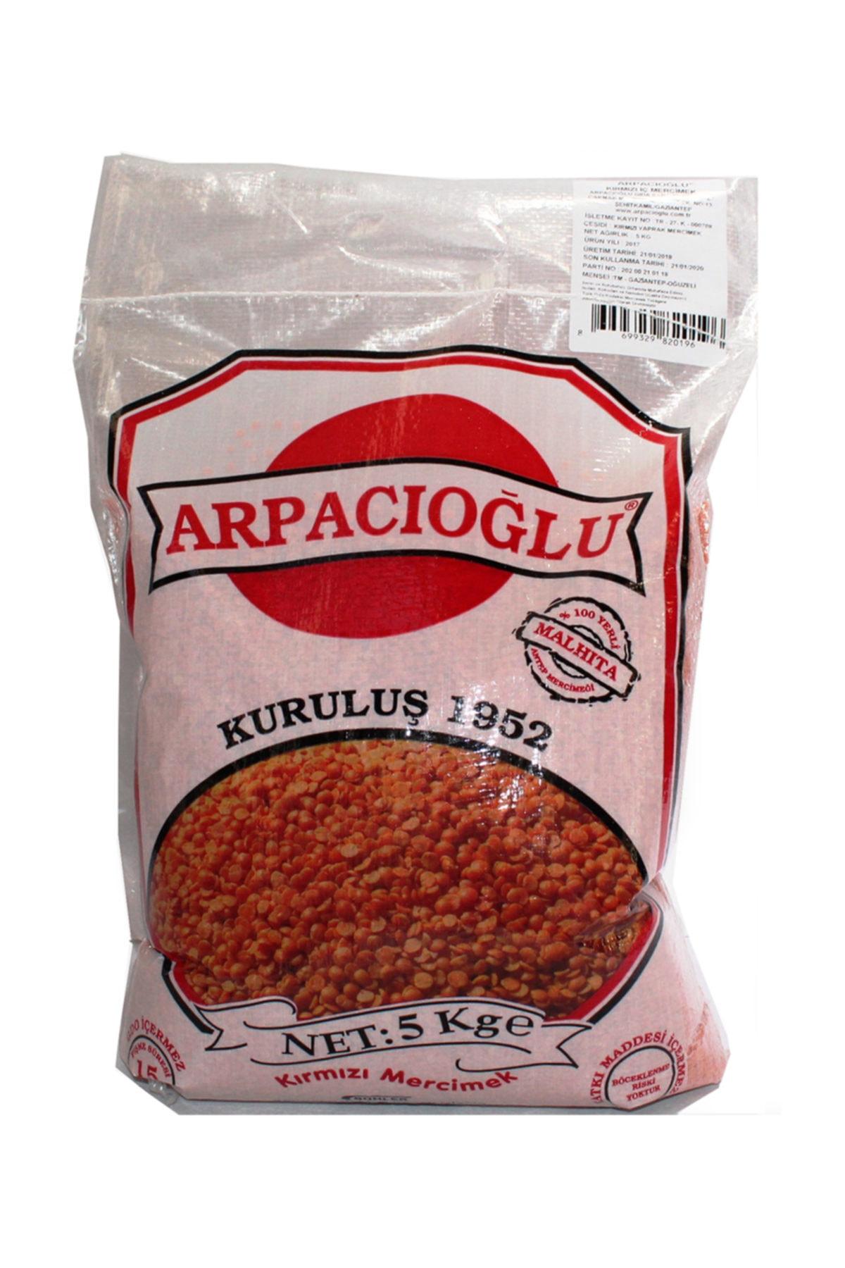 %100 Yerli Türk Malı Kırmızı Yaprak Mercimek 5kg (naturel)