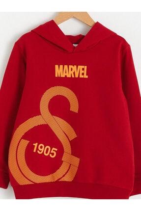 LC Waikiki Galatasaray Erkek Çocuk Kırmızı Rds Sweatshirt 2