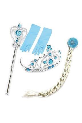 damdikids Kız Çocuk Mavi Elsa Kostüm 1