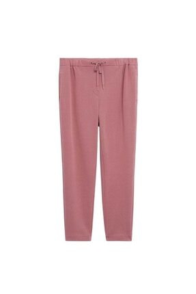 Mango Kadın Pembe Koton Pantolon 3