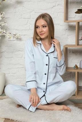 DAPSEE Gömlek Yaka Cepli Pijama Takımı 0
