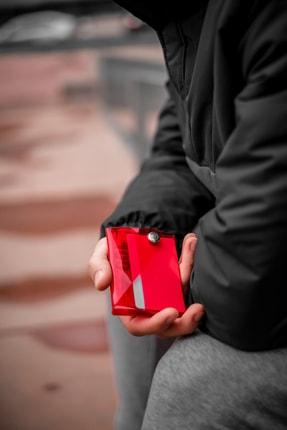 Badger Collection Katlanır Cüzdan - Unisex Kartlanır Kırmızı 0