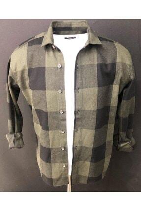 MELBOURNE Erkek Yeşil Oversize Oduncu Gömleği 0