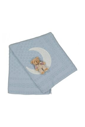 Mavi Triko Bebe Battaniye triko bebe battaniye002