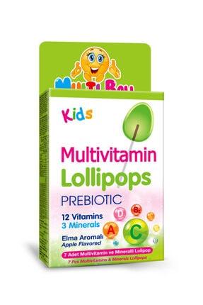 Multiball Kids Multivitamin Lollipop + Prebıotıc 0