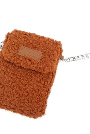 Housebags Kadın Taba Peluş Omuz Askılı Cep Telefonu Çantası 199 2