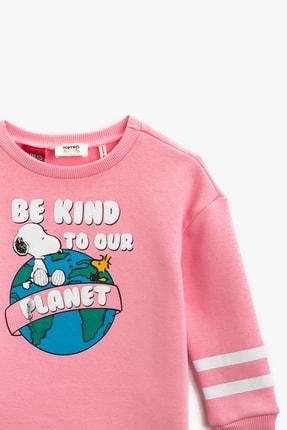 Koton Pembe Kız Çocuk Sweatshirt 2