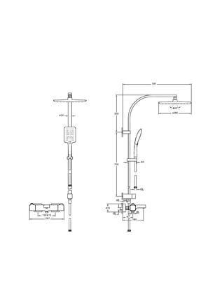 Artema Aquaheat A49256 Ss3 Termostatik Banyo Sistemi, Krom 2