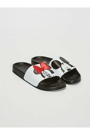 LC Waikiki Minnie Mouse Kadın Beyaz J5E Terlik 0