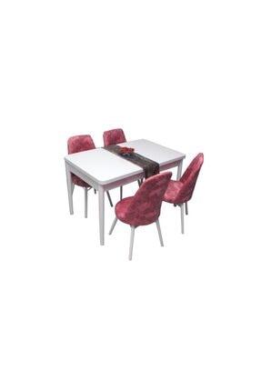 Pembe Mutfak Masası Takımı ESL118