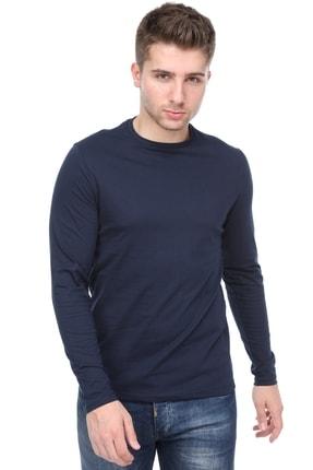 kamola Erkek Lacivert Uzun Kol Pamuk Coton T-shirt 0