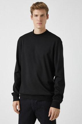 Koton Erkek Siyah Sweatshirt 1KAM74082OK 2
