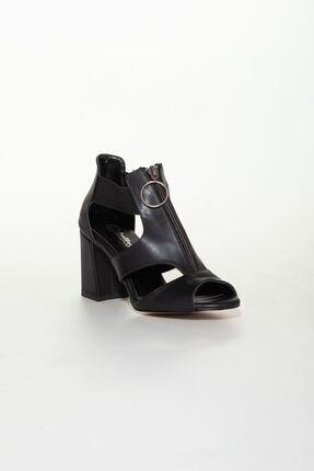 derithy Kadın Siyah Klasik Topuklu Ayakkabı 2