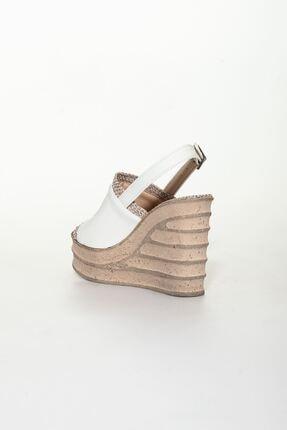 derithy Kadın Beyaz Dolgu Topuklu Ayakkabı 3