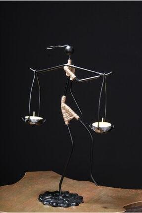 Le ante Siyah Dekoratif Mumluk- Kadın Figürlü Mumluk-tealight (Mum) Dahil 1