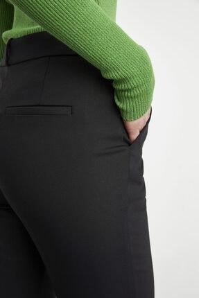 adL Kadın Siyah Paçası Yırtmaçlı Cepli Pantolon 4