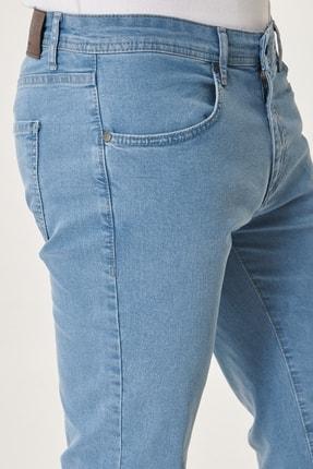 Altınyıldız Classics Erkek Buz Mavisi Slim Fit Dar Kesim Denim Esnek Jean Kot Pantolon 1