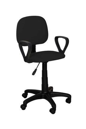 TOMAR Cgn Kollu Çalışma Sandalyesi Ofis Sandalyesi Öğrenci Koltuğu Ofis Ve Büro Sandalyesi - Siyah 1