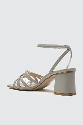 TRENDYOLMİLLA Gri Kadın Klasik Topuklu Ayakkabı TAKSS21TO0046 2