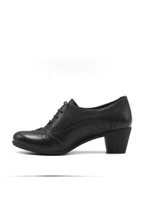 Mammamia Kadın Siyah Günlük Deri Ayakkabı 3220b 1