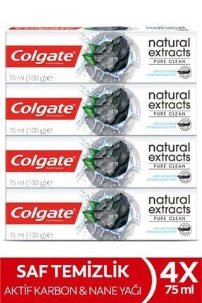 Colgate Natural Extracts Aktif Karbon Diş Macunu 75 Ml X 4 Adet 0