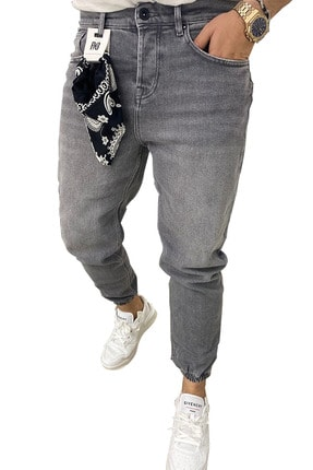 RAYZ Erkek Gri Boyfriend Jogger Paça Pantolon 0