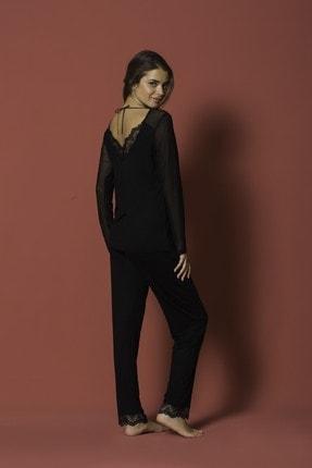MONAMİSE Kadın 18154 Pijama Tk. Siyah 2