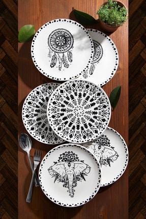 Kitchen Life 6'lı Özel Tasarım Handmade 21cm Pasta Tabak Seti 0