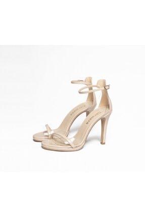 Kadın Ten Rengi Topuklu Ayakkabı CRWZ009
