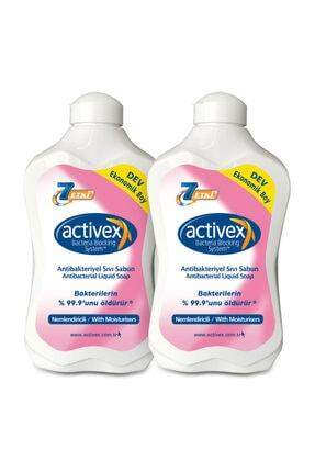 Activex Antibakteriyel Sıvı Sabun Nemlendiricili 2x1,5lt 0