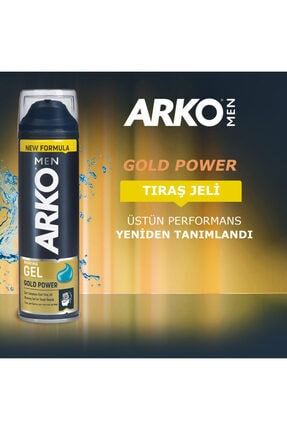 Arko Men Gold Power Tıraş Jeli 200ml 3
