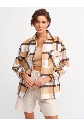 Dilvin Kadın Kahverengi Oduncu Gömlek 5688 0