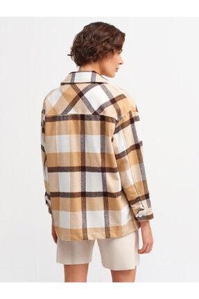 Dilvin Kadın Kahverengi Oduncu Gömlek 5688 2