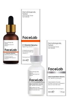 FaceLab C Vitamini Serumu + Leke Giderici Serum 2'li Set 0