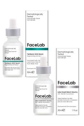 FaceLab Aha Peeling Serum + Leke Giderici Serum 2'li Set 0