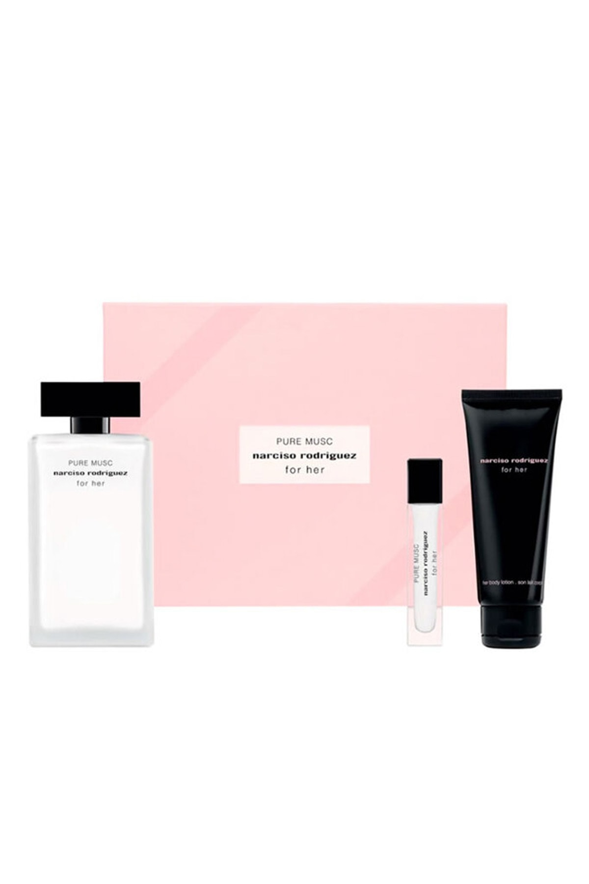 Narciso Rodriguez For Her Pure Musc Edp 100 ml + Body Lotion 75 ml + Edp 10 ml 3423478991057 0