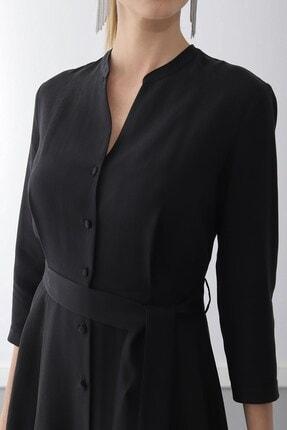 Journey Elbise-dik Yaka, Ön Tüm Düğme, Truvakar Kol Gömlek 2
