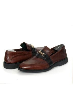 Oğuzhan Ayakkabı Erkek Kahverengi Eva Taban El Yapımı Doğal Yumuşak Deri Ayakkabı 0