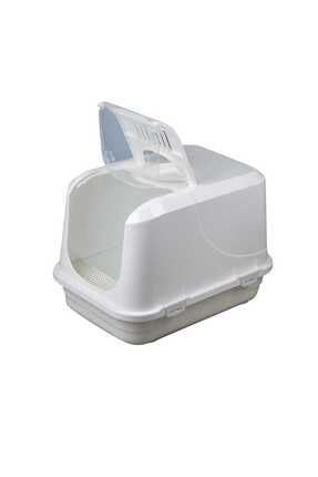 Sera Beyaz Xxl Kapalı Kedi Tuvaleti,paspas,filtre,kürek 0