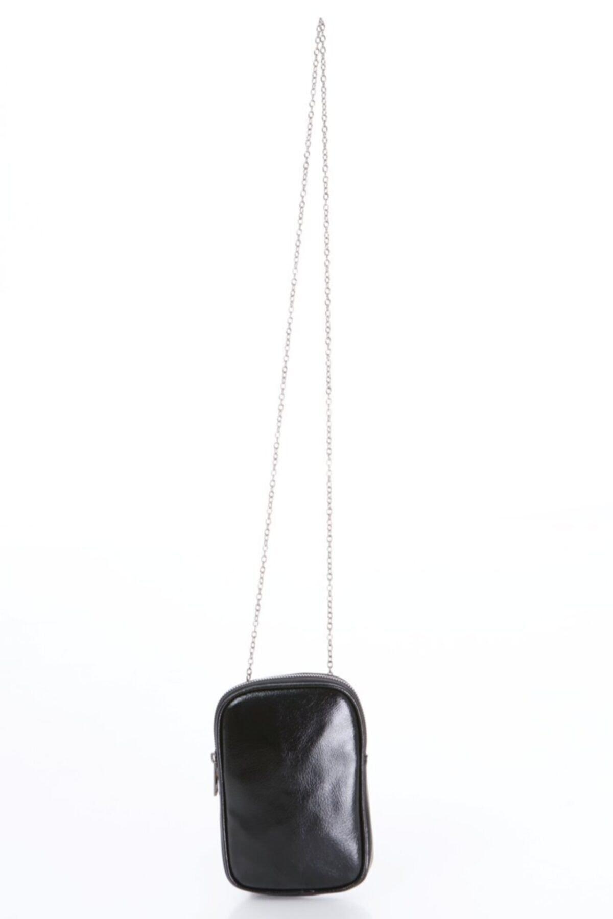 Icone Siyah Telefonlu Omuz Çantası