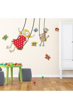 KT Decor Neşeli Salıncak Çocuk Odası Sticker 0