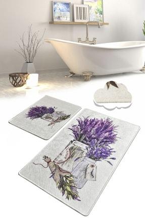Chilai Home Purpura Djt 2 Li Set Banyo Paspası Klozet Takımı 0