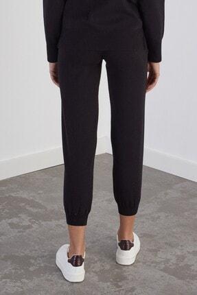 Join Us Kadın Siyah Beli ve Paçası Lastikli Cepli Triko Pantolon 2